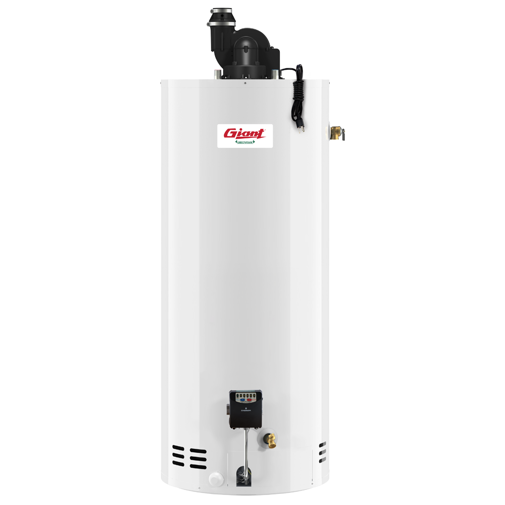 residential gas fired water heater power vent 60 u s gal